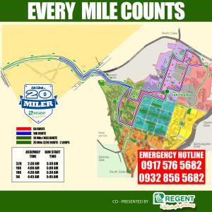20 Miler Race Map