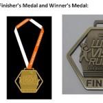 World Vision Run 2015 Medal