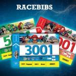 World of DC Comics All Star Fun Run 2015 Race Bibs