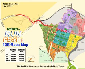 Runfest July2015 10K Race Map