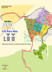 Runfest July2015 21K Race Map