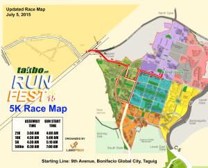 Runfest July2015 5K Race Map