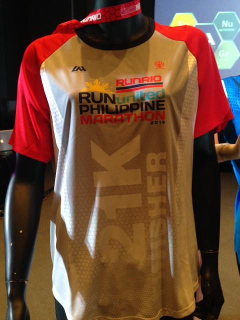 Run United Philippine Marathon 2015 Finisher Shirt 21K