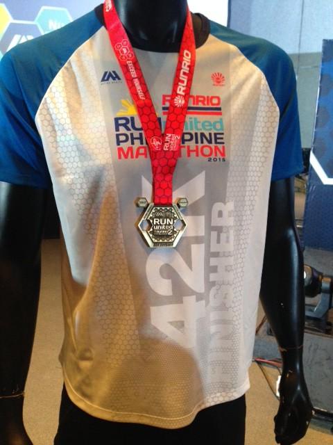 Run United Philippine Marathon 2015 Finisher Shirt 42K