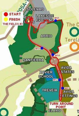 MH Urbanathlon Race Map 2015
