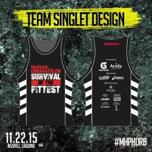 Mens Health Urbanathlon 2015 Singlet Team