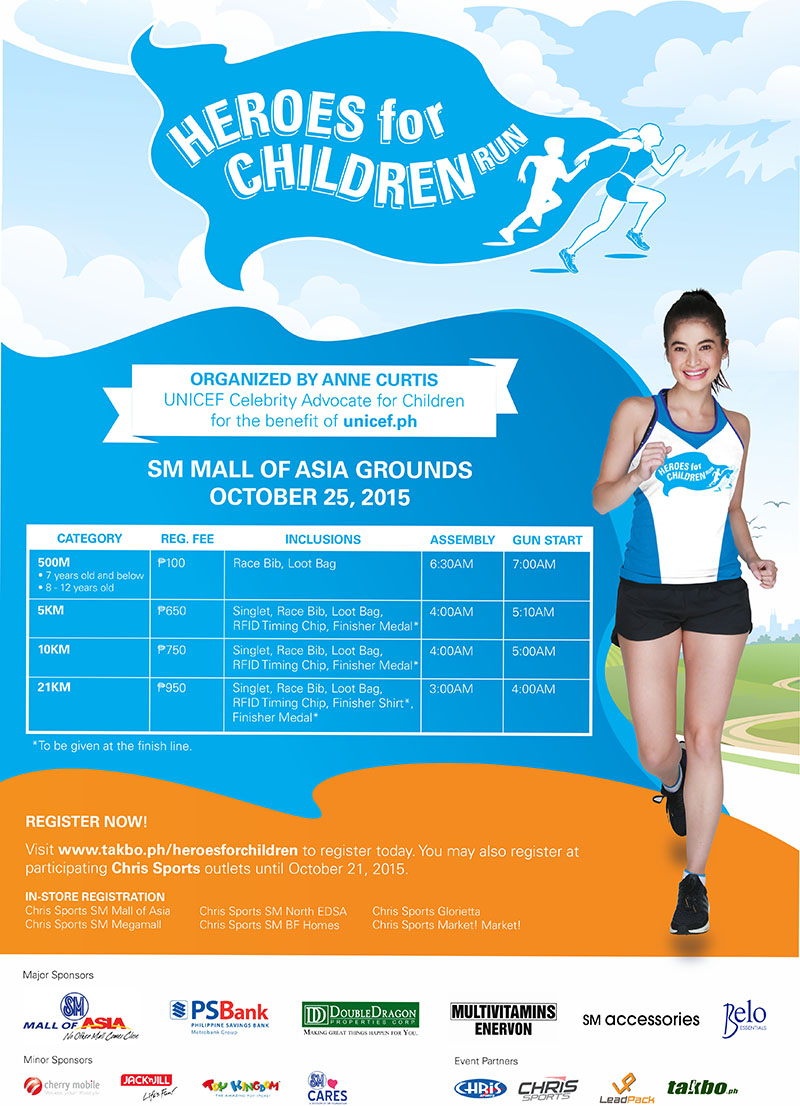 Unicef Heroes for Children Run 2015 Poster