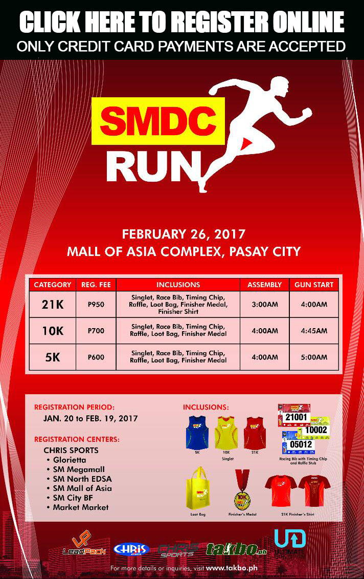 SMDC Run 2017 Online Registration Poster