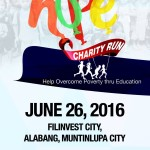 Hope Charity Run 2016: Save The Date! (Alabang)