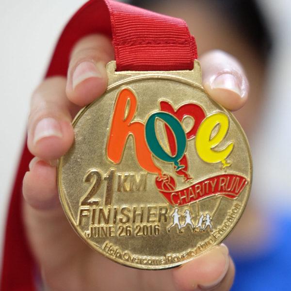 Hope Run Medal Actual 21K