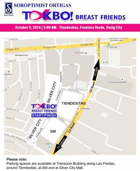 Takbo Breast Friends 2016 Map