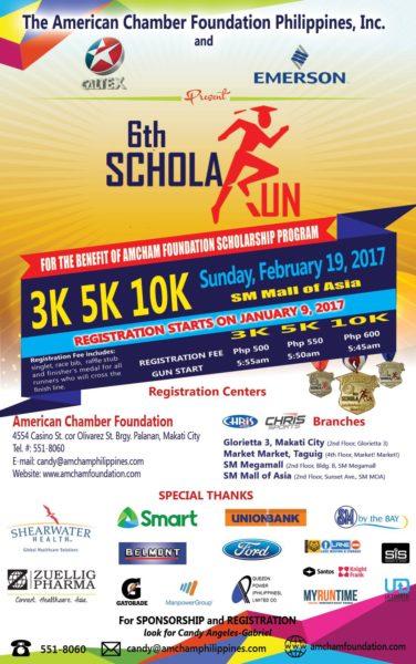 AmCham Run 2017 Poster