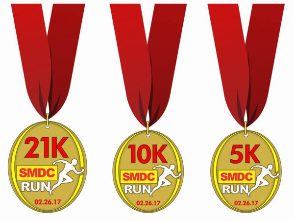 SMDC Run 2017 medal