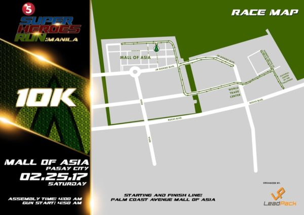 TV5 Super Heroes Run 2017 10K Map
