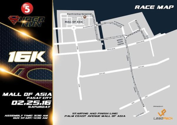 TV5 Super Heroes Run 2017 16K Map