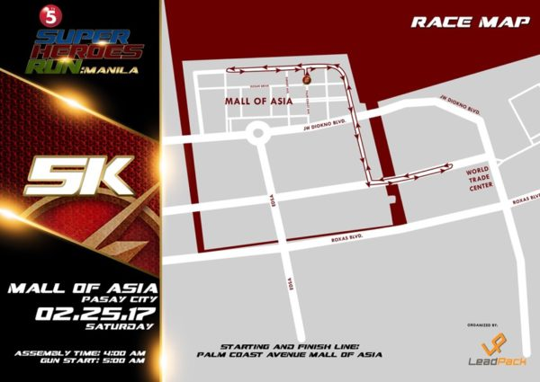 TV5 Super Heroes Run 2017 5K Map