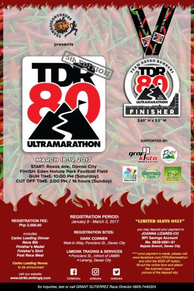 TDR80 Ultramarathon 2017 Poster