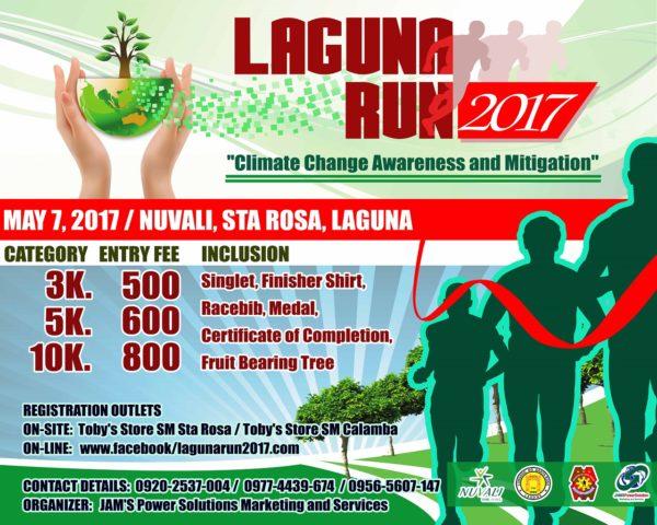 Laguna Run 2017 Poster