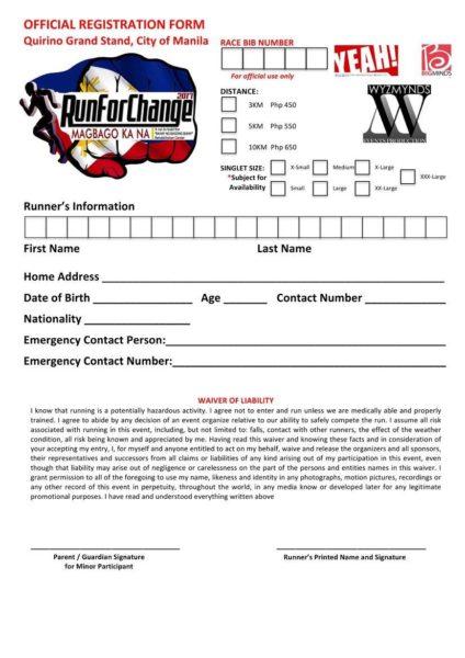 Run For Change 2017 Reg Form