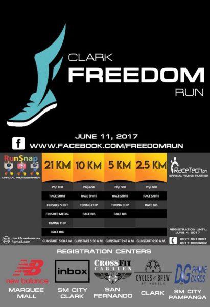 Clark Freedom Run 2017 Poster