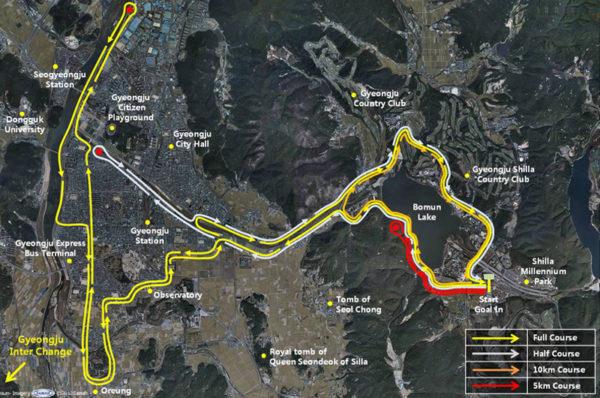 Gyeongju Cherry Blossom Marathon Route