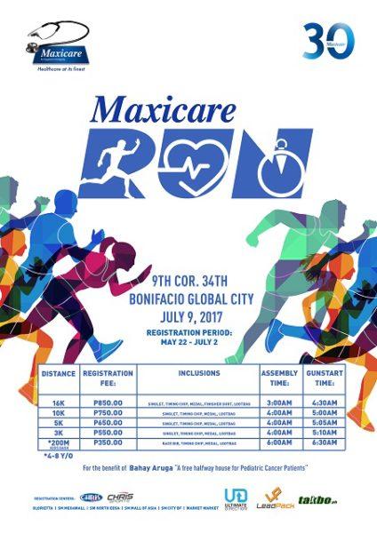 Maxicare Run 2017 Poster