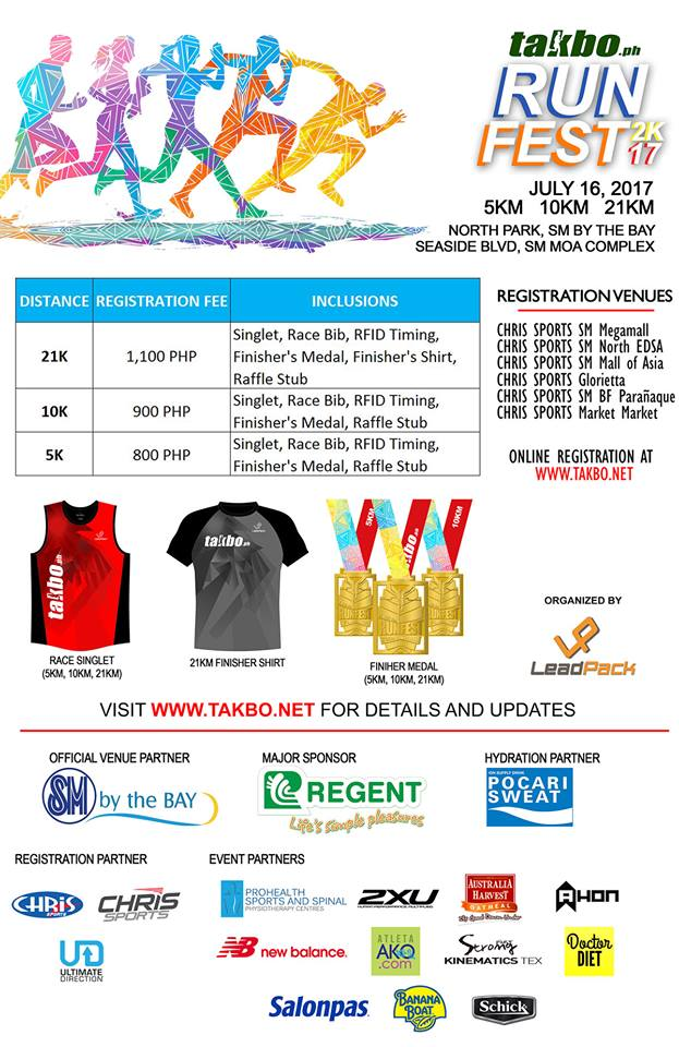 Runfest 2017 Poster with Sponsors