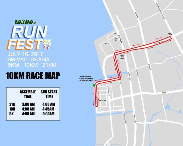 Takbo.ph RunFest 2017 10K Race Map