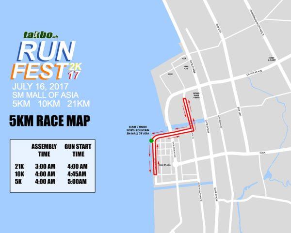 Takbo.ph RunFest 2017 5K Race Map
