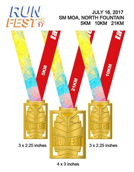 Takbo.ph Runfest2017 Medals