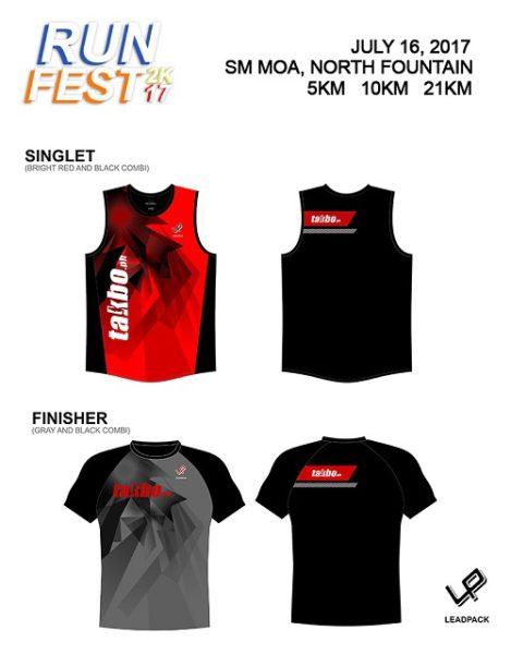 Takbo.ph Runfest2017 Singlet and Shirt