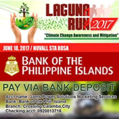 Laguna Run 2017 BPI Account
