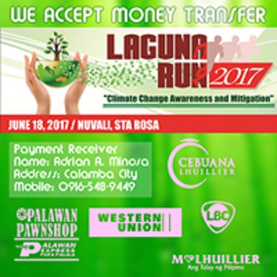 Laguna Run 2017 Money Transfer Details