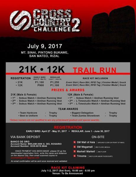 Soleus Cross Country Challenge 2017 Poster