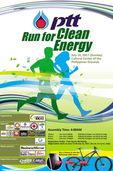 PTT Run for Clean Energy 2017 Poster