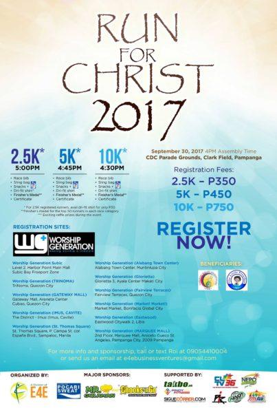 Run for Christ 2017 Poster