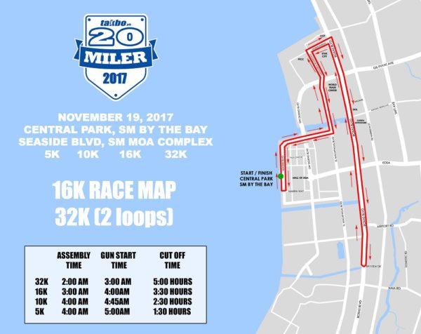 TPH 20Miler Race Map