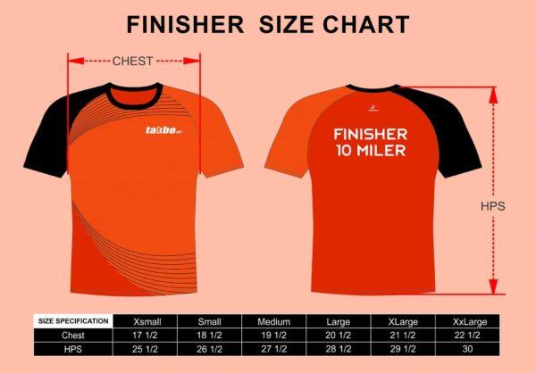 Takbo.ph 20 Miler 2017 Finisher Shirt Size