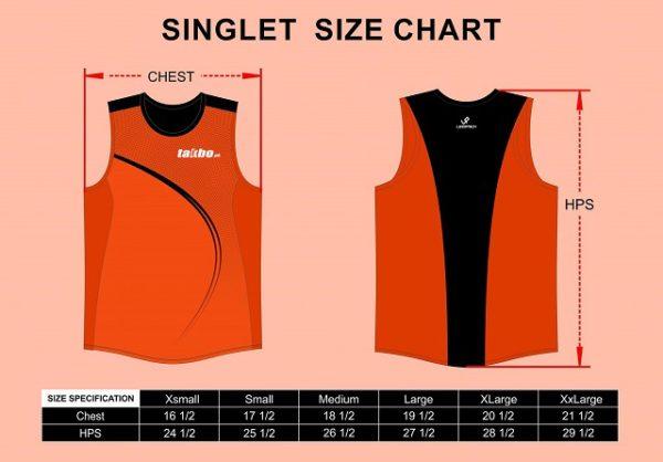 Takbo.ph 20 Miler 2017 Singlet Size