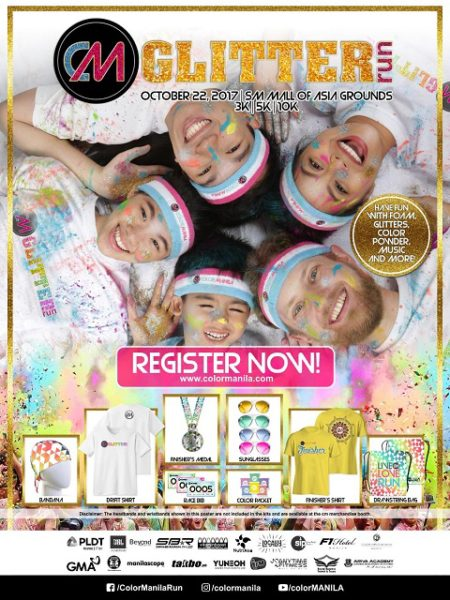 CM Glitter Run 2017 Poster