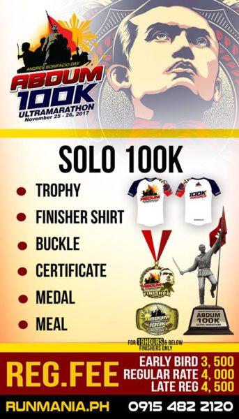 Andres Bonifacio Day 100K Ultra Marathon 2017 Poster