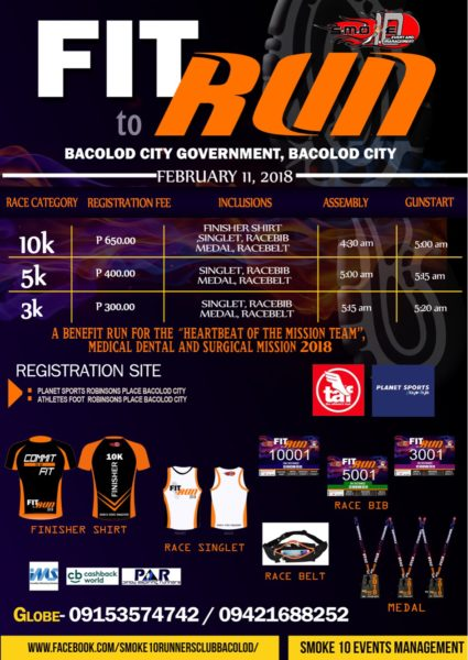 Fit To Run - Bacolod Leg 2018 Poster