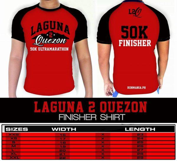 Laguna to Quezon 50K Ultra Marathon 2017 Shirt