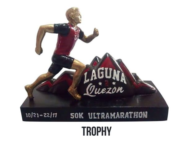 Laguna to Quezon 50K Ultra Marathon 2017 Trophy