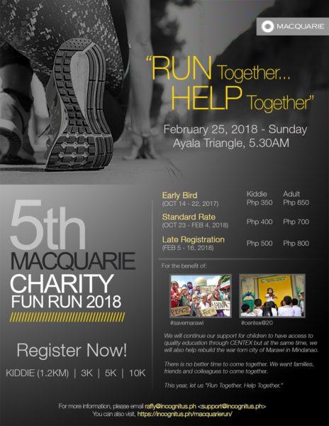 Macquarie Charity Fun Run 2018 Poster