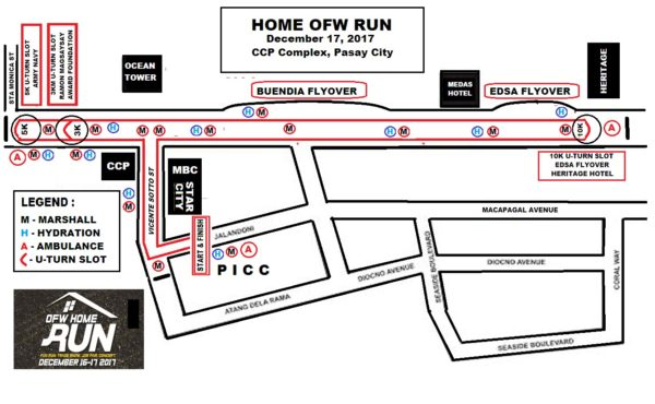 OFW Home Run 2017 Race Map