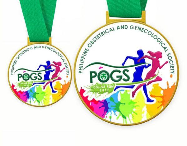 POGS Color Run 2017 Medal