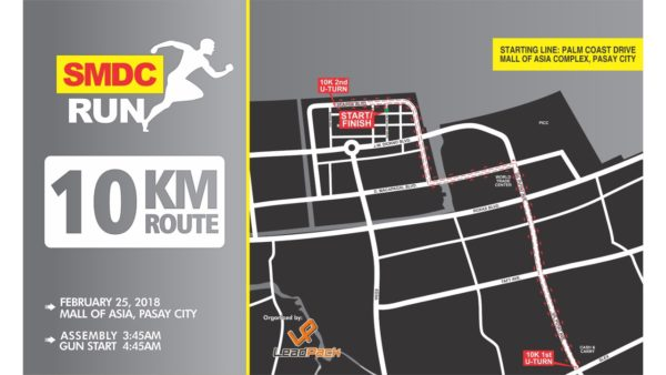 SMDC RUN 2018 - 10K Route