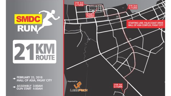 SMDC RUN 2018 - 21K Route
