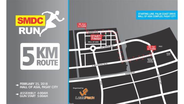 SMDC RUN 2018 - 5K Route